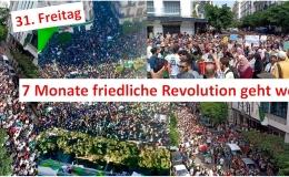 31. Freitag - Das algerische Volk gewinnt die Schlacht um Algier: Hunderttausende protestieren gegen Armeechef Gaid Salah