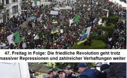 47. Freitag in Folge: Die friedliche Revolution geht trotz massiver Repressionen und zahlreicher Verhaftungen weiter
