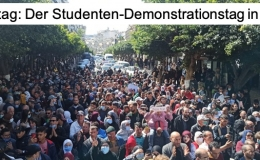 Dienstag ist der Studenten-Demonstrationstag: Heute (16.03.2021) in Algier