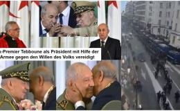Ex-Premier Tebboune als Präsident mit Hilfe der Armee gegen den Willen des Volks vereidigt