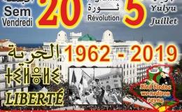 5. Juli 2019: Größte Volksrevolution Algeriens statt der 57. Unabhängigkeitsfeier