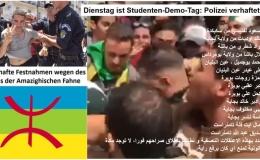 Dienstag ist Studenten-Demo-Tag: Polizei in zivil verhaftet zahlreiche Demonstranten mit Amazighischer Fahne