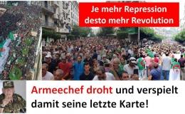 Je mehr Repression desto mehr Revolution! Armeechef verspielt seine letzte Karte