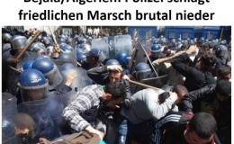 Repressionen und Verhaftungen weiter an der Tagesordnung: Algeriens Polizei schlägt friedlichen Marsch brutal nieder