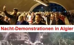 Nacht-Demonstrationen in Algier: Tausende Algerier demonstrieren nachts gegen die geplanten Präsidentschaftswahlen