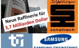 Neue Raffinerie: Algeriens Energiekonzern Sonatrach unterzeichnet einen 3,7-Milliarden-$-Vertrag mit Tecnicas Reunidas (Spanien) und Samsung (Südkorea)