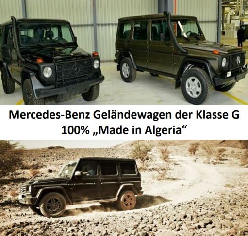 Mercedes Benz Klasse G made in Algeria