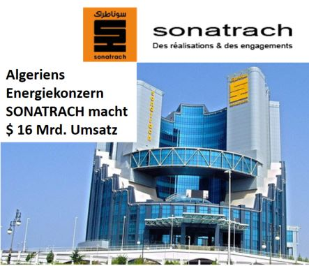 Sonatrach 16 Mrd USD